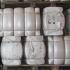 Amarração de fardos de granulado de cortiça