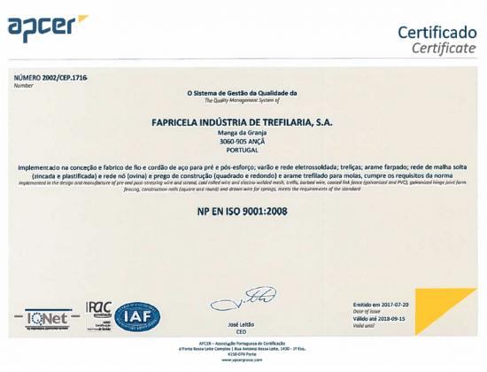 APCER NP EN ISO 9001:2008