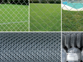 Chain link fencing with galvanized wire