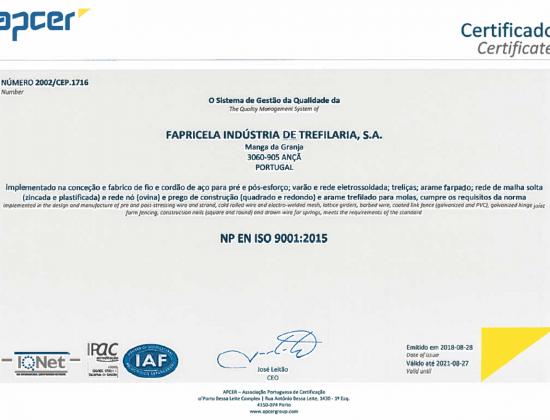 APCER NP EN ISO 9001:2015