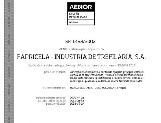 AENOR NP EN ISO 9001:2015