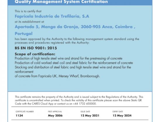 BS EN ISO 9001 2015
